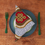 PRE-ORDER African print napkins set of 4 - Red Royalty