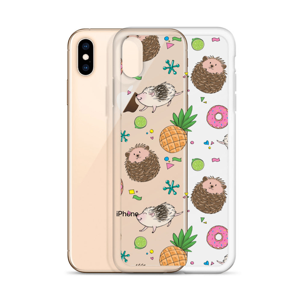 Hedgies, Hooray! iPhone Case - Clear