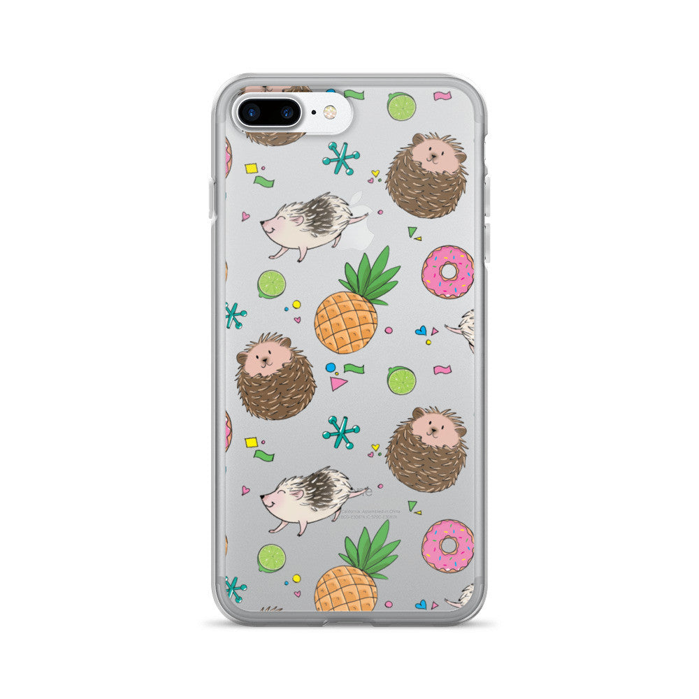Hedgies, Hooray! iPhone 7/7 Plus Case - Clear