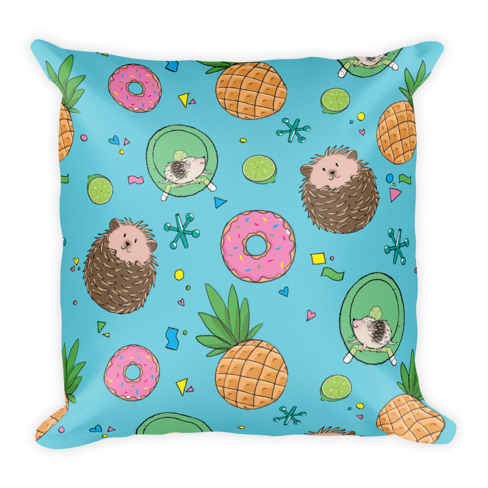 Hedgies, Hooray! Square Pillow