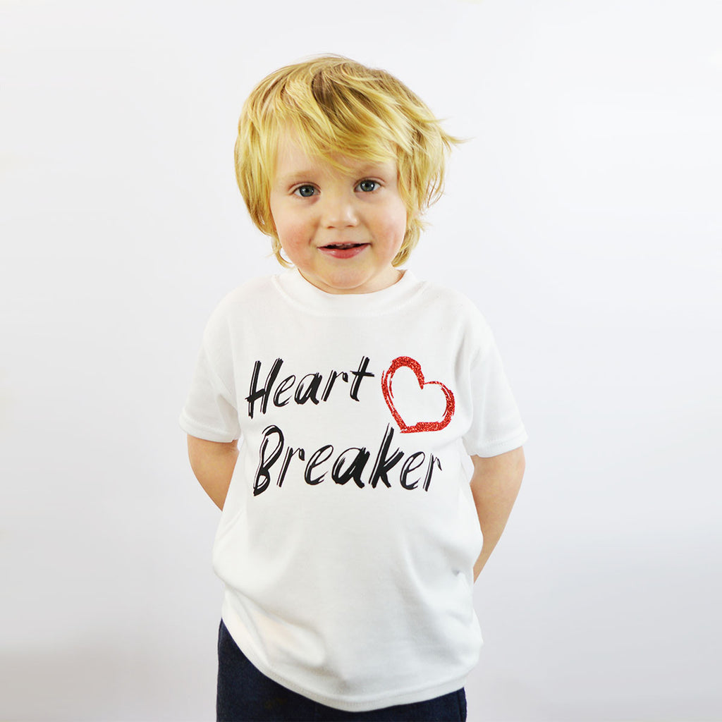 'Heart Breaker' Cute Kids Slogan T-Shirt
