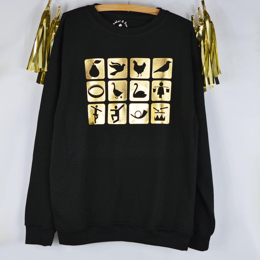 '12 Days of Christmas Icon' Xmas Sweatshirt
