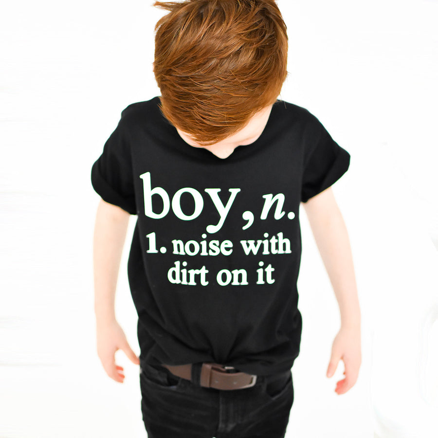 'Boy Definition' Cool Kids Slogan T-Shirt