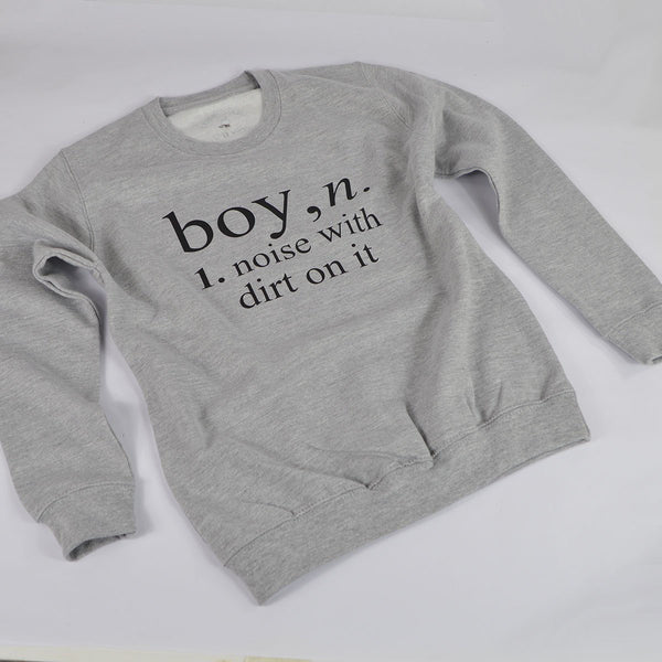 'Boy Definition' Kids Sweatshirt
