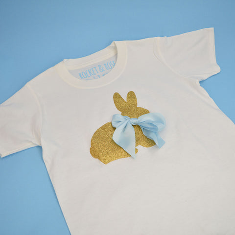 'Bow Bunny' Cute Kids Easter T-Shirt