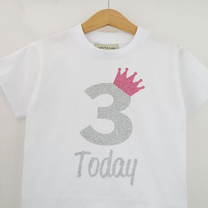 Personalised 'Crown Birthday' Cute Kids Birthday T-Shirt