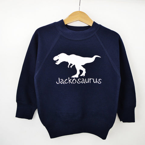 Personalised 'Dinosaurus' Cute Kids Slogan Sweatshirt