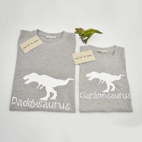 Personalised 'Dinosaurus' Matching T-Shirt Set