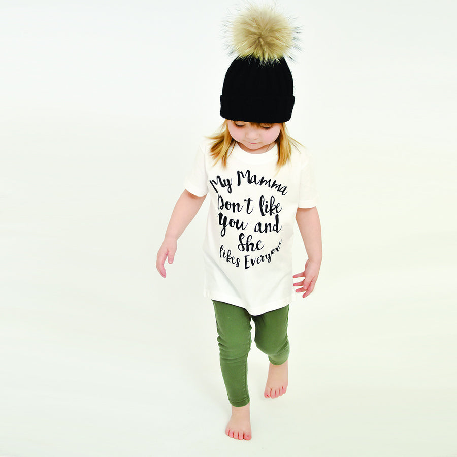 'My Mamma Don't Like You' Cute Kids Slogan T-Shirt