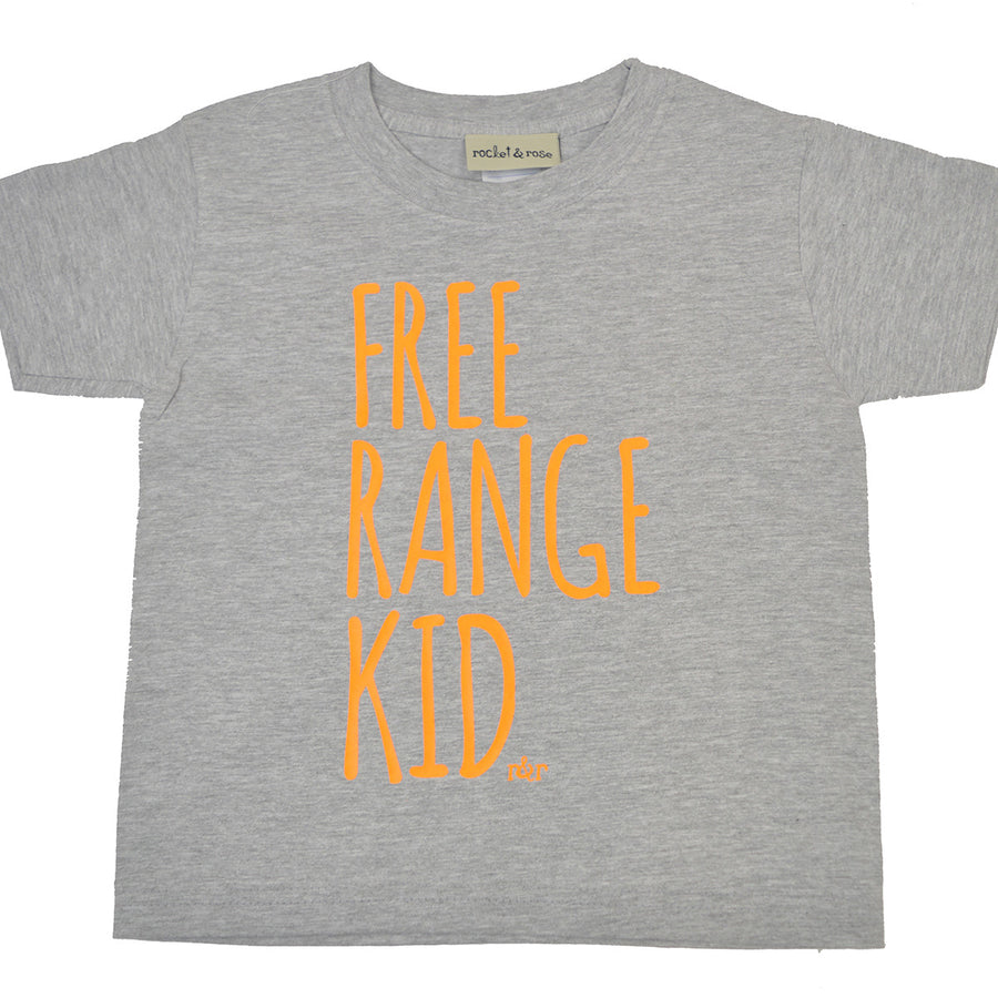 'FREE RANGE KID' Cute Kids Slogan T-Shirt