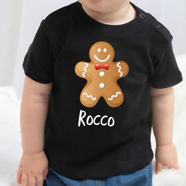 'Gingerbread Person' Personalised Christmas T-Shirt