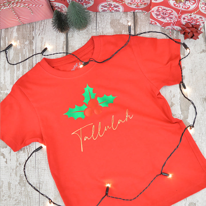 'Holly' Kids Personalised T-Shirt