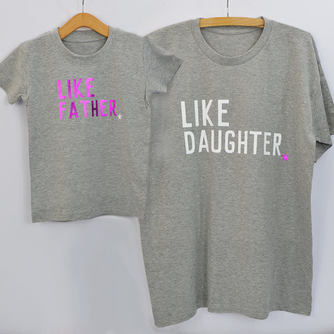 'Like Father Like Daughter' Matching T-Shirt Set