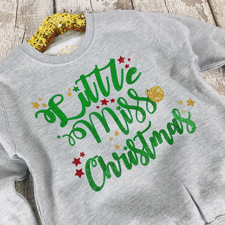 'Little Miss Christmas' Cosy Kids Christmas Sweatshirt