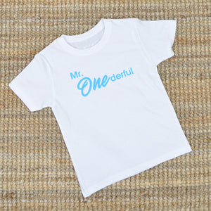 'Mr. One derful' One Year Old Birthday T-Shirt
