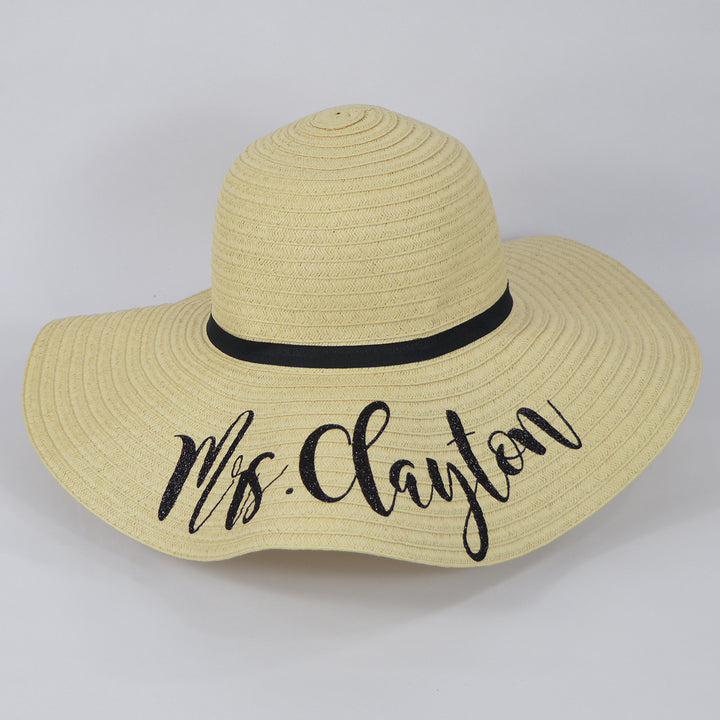 Personalised Summer Straw Floppy Hat