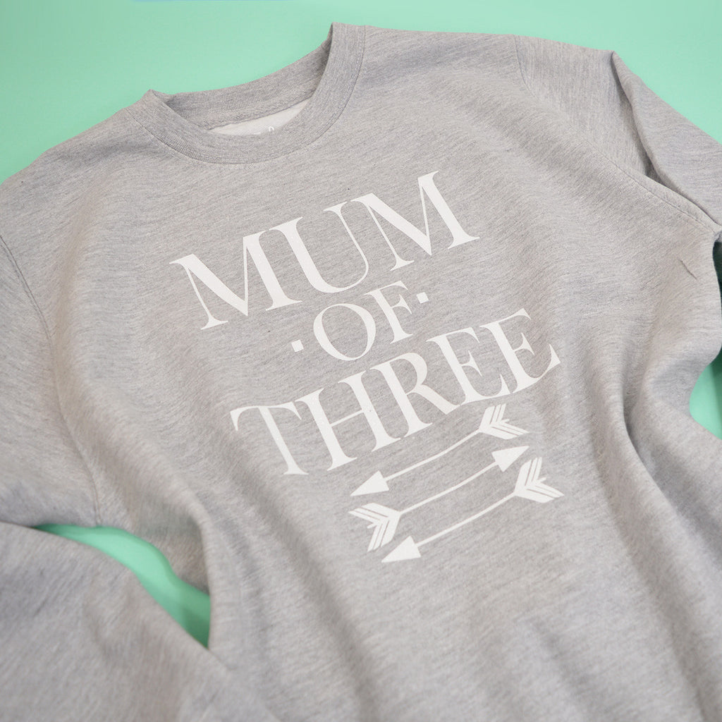 'Mum of Three' Slouchy Fit Sweatshirt