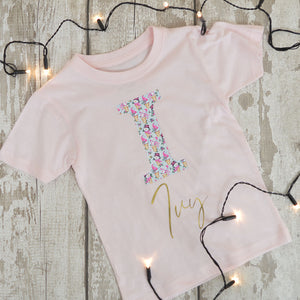 'Pink Ice Cream Snowman' Christmas Kids Personalised T-Shirt