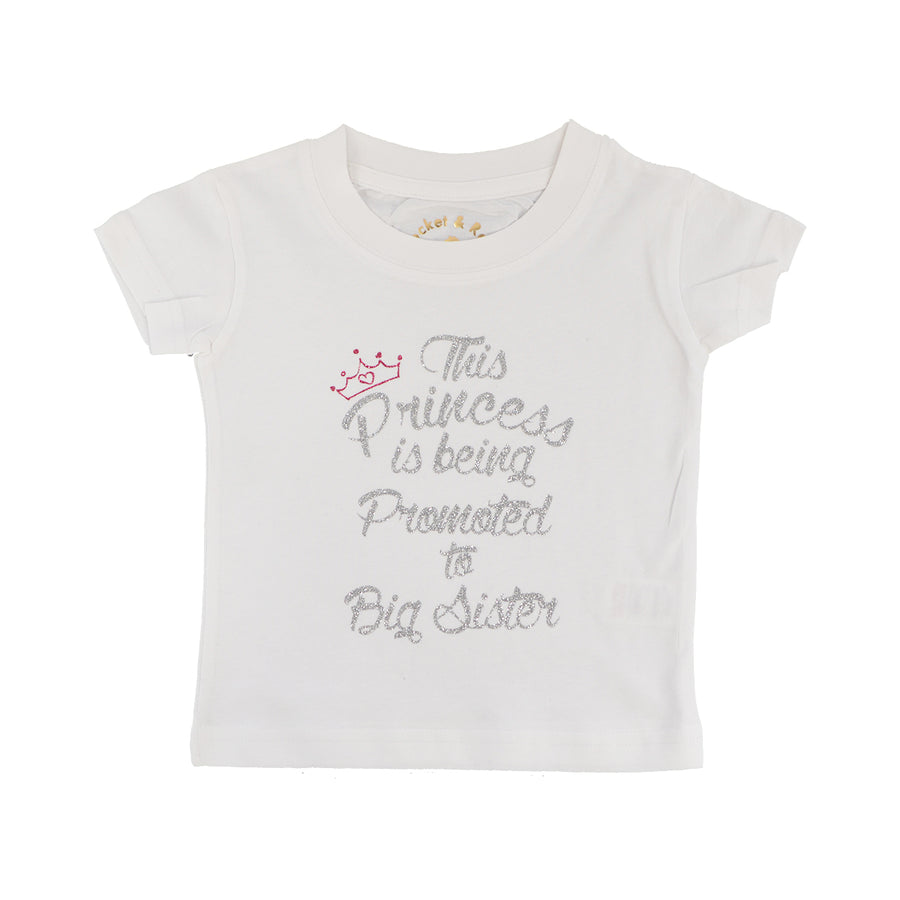 'This Princess is going to be promoted to Big Sister' Cute Kids Slogan T-Shirt