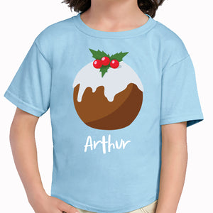 'Christmas Pudding' Personalised Christmas T-Shirt
