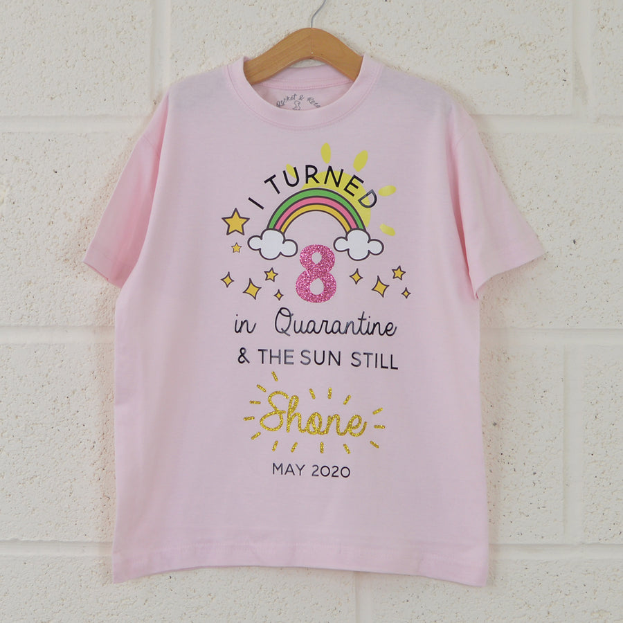 'Quarantine Birthday' Personalised Kids T-Shirt