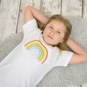 'Rainbow Love 2020' Kid's T-Shirt with % of proceeds going to the NHS