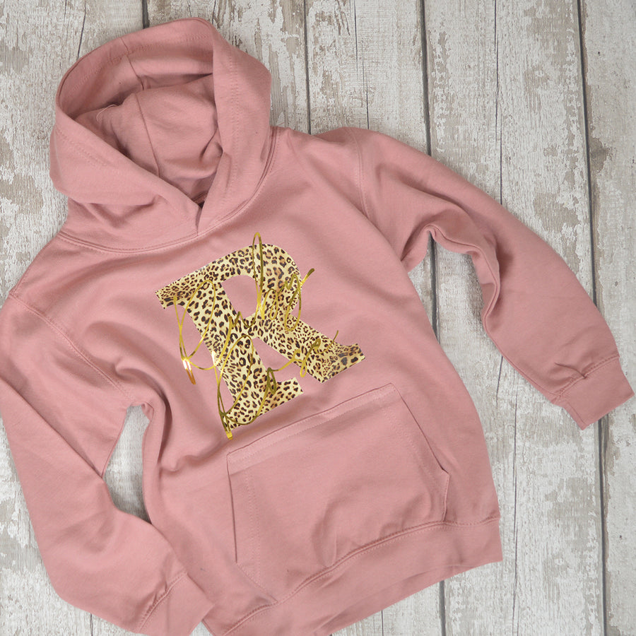 Leopard Print Initial & Name