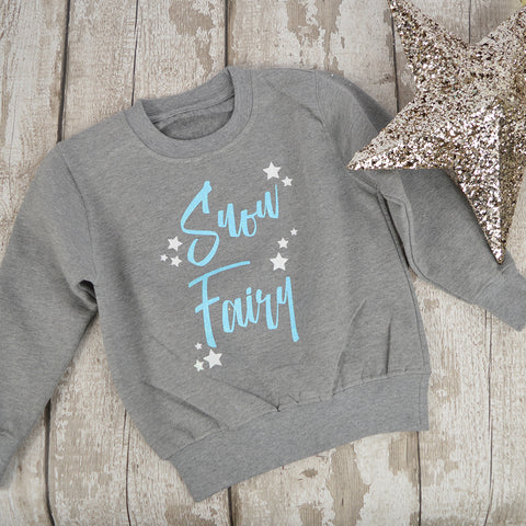 'Snow Fairy' Sparkly Christmas Kids Sweatshirt