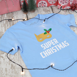 'Super Christmas' Kids Personalised T-Shirt