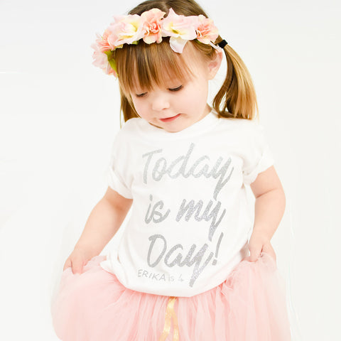 Personalised 'Today is My Day' Cute Kids Birthday T-Shirt