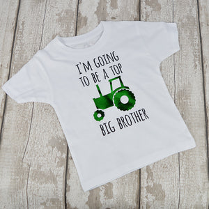 'Top Tractor Big Brother' Cute Kids T-Shirt