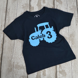Personalised 'Tractor Age' Fun Birthday T-Shirt