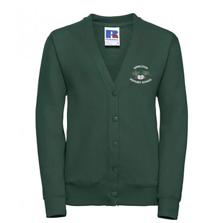 Embroidered Winkleigh School Cardigan