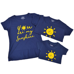 'Sunshine' Matching TRIPLE T-Shirt Set