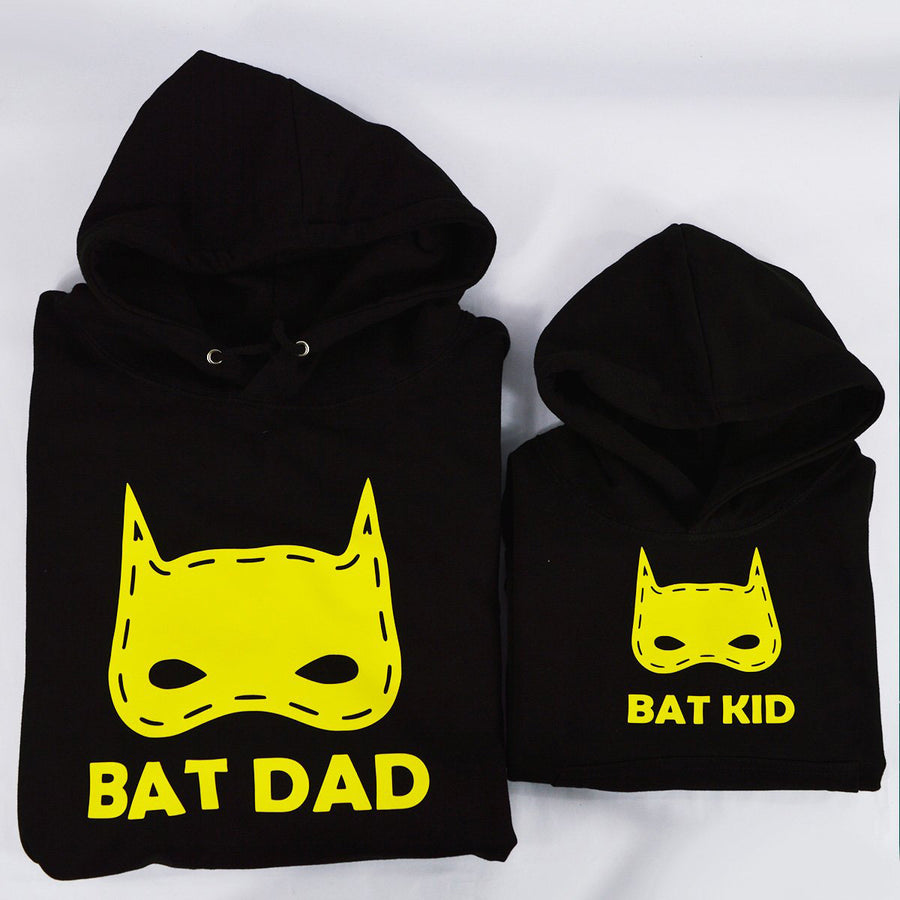 'Bat Dad Bat Kid' Matching Hoodies Set