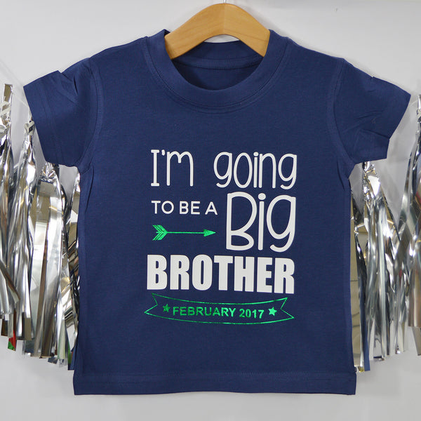'Big Brother Date Banner' Cute Kids T-Shirt