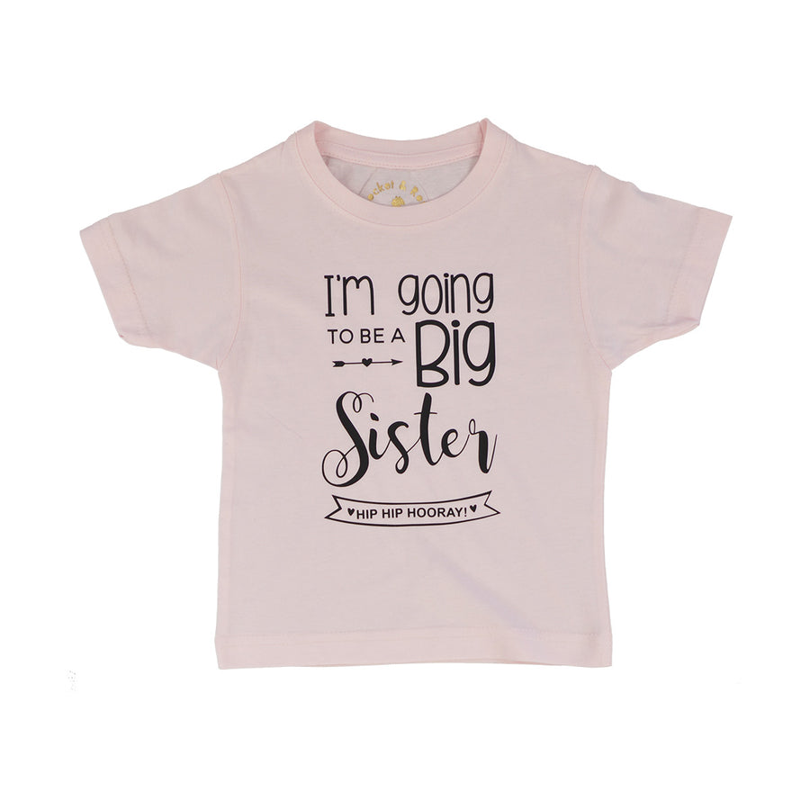 'Big Sister Date Banner' Cute Kids T-Shirt