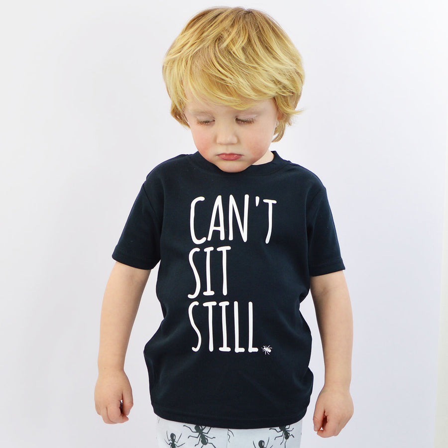 'Can't Sit Still' Cute Kids T-Shirt