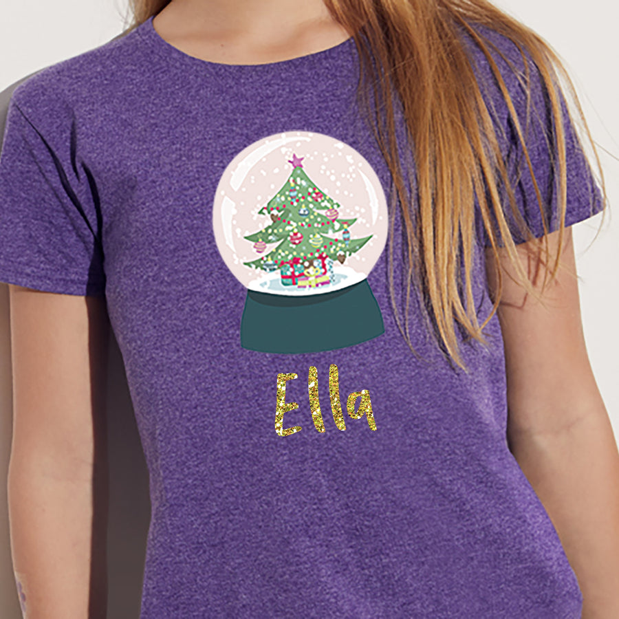 'Snowglobe' Personalised Christmas T-Shirt