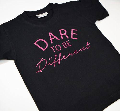 'Dare to be Different' Cute Kids Slogan T-Shirt