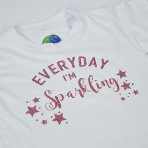 'Everyday I'm Sparkling' Cute Kids Character T-Shirt