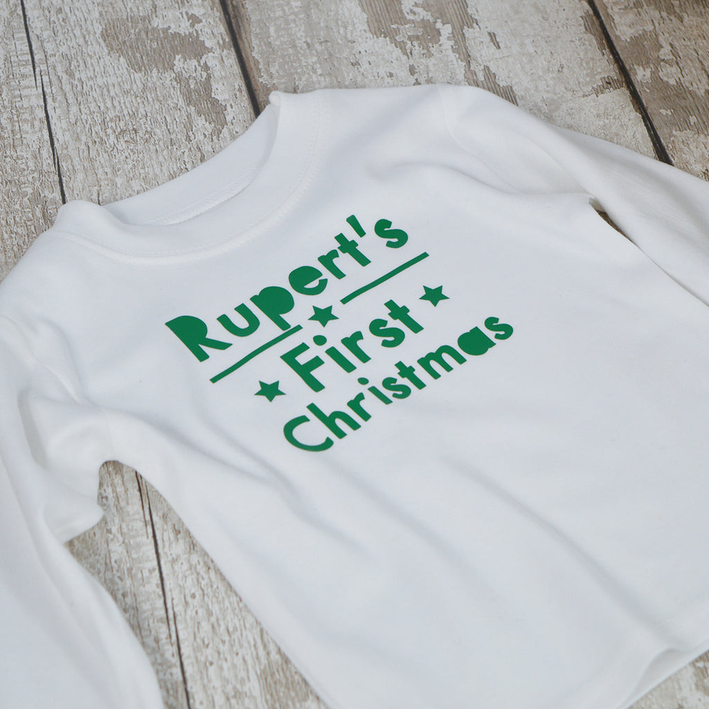 Personalised ' First Christmas' Christmas T-Shirt