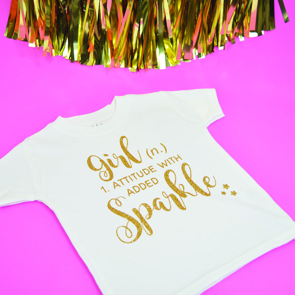 'Girl Definition' Cute Kids Slogan T-Shirt