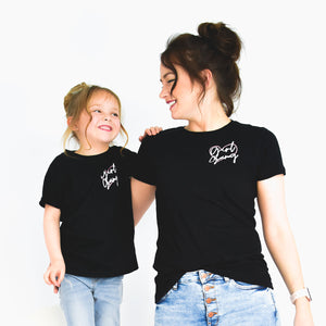 'Girl Gang' Mother Daughter Twinning T-Shirt Set