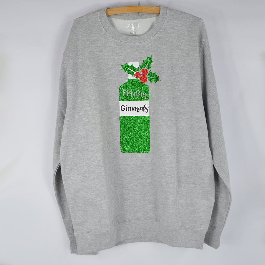 'Merry GinMas' Fun Christmas Gin Sweatshirt