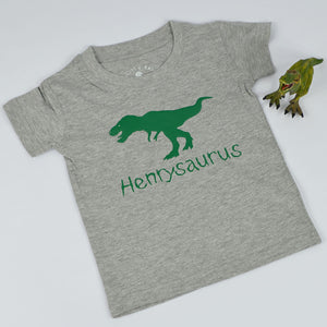 'Dinosaurus' Personalised Kids Slogan T-Shirt