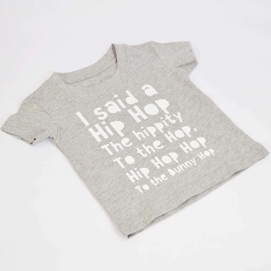 'Hip Hop Bunny Hop' Cute Easter Kids Slogan T-Shirt