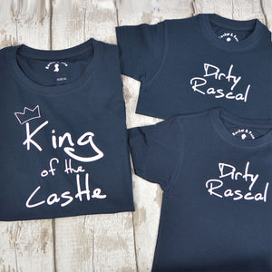 'King of the Castle & Dirty Rascals' Matching TRIPLE T-Shirt Set