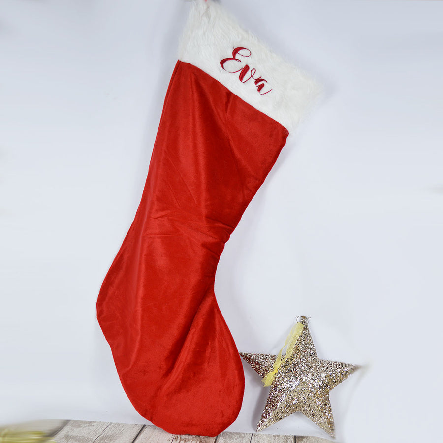 Personalised Giant Plush Embroidered Christmas Stocking