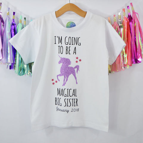 'I'm going to be a Magical Big Sister' Cute Kids T-Shirt